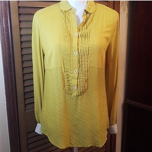 Maeve Collared Half Button Up Blouse
